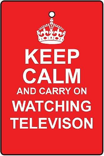 Keep Calm And Watch TV Car Air Freshener