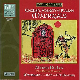 Alfred Deller - English French and Italian Madrigals [CD] USA import