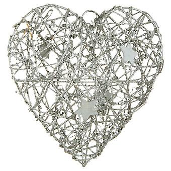 Wellindal Corazón Navidad Color Plata (Home , Decoration , Christmas , Xmas decorations)