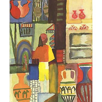 August Macke - Shopping Poster Print Giclee