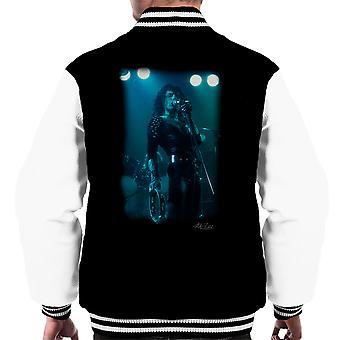 Freddie Mercury In schwarze Dame auf der Bühne Männer Varsity Jacke