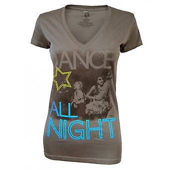 Freeze Ladies Dance All Night T Shirt, Charcoal