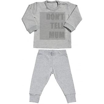 Spoilt Rotten Don't Tell Mum Sweatshirt & Jersey Trousers Baby Outfit Set