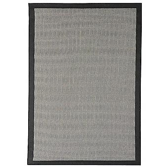 Outdoor carpet for Terrace / balcony of black grey Essentials chrome black 160 / 230 cm carpet indoor / outdoor - for indoors and outdoors
