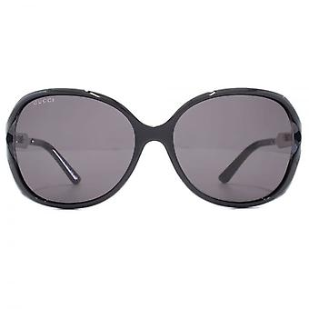 Cut Out Square Gucci Sonnenbrille In Schwarz-Ruthenium