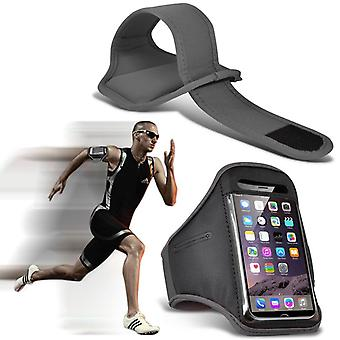 ONX3 (Grey) Adjustable Sweatproof/Water Resistent Sports Fitness Running Cycling Gym Armband Phone Case For Blackberry Keyone