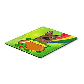 German Shepherd St. Patrick's Day Mouse Pad, Hot Pad or Trivet