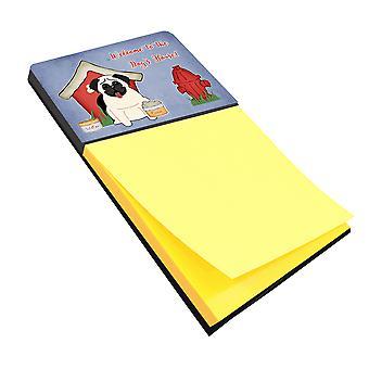 Carolines Treasures  BB2758SN Dog House Collection Pug Cream Sticky Note Holder