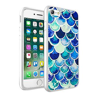 i-Tronixs OnePlus 3T Mixed Blue Fish Scale Design Printed Case Skin Cover - 034