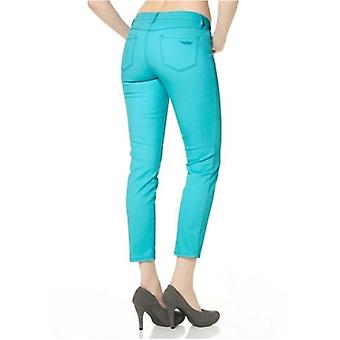 Arizona 7/8 stretch jeans 5-lomme-stil turkis størrelse 34