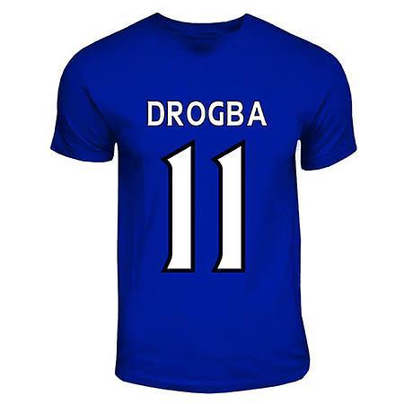 Didier Drogba del Chelsea Héroe T-shirt (Royal Blue)