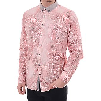 Pearly King Irony Rose Print Fitted Shirt