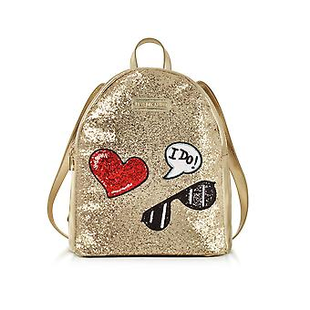 Love Moschino ladies JC4149PP15LL0901 gold leather backpack