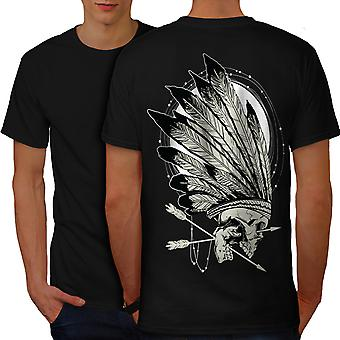 Native Indian Curse Men BlackT-shirt Back | Wellcoda
