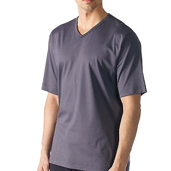 Mey 20710-697 Men's Lounge Grey Solid Colour Pajama Pyjama Top