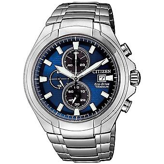 Citizen Herrenuhr Eco-Drive Titanium Chronograph CA0700-86L