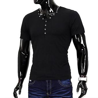Men's Barbados Beach Boy T-Shirt V neck Polo clubwear T-shirt Figurbetont