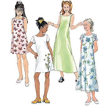 Girls' Dresses In 2 Lengths-12-14-16 -*SEWING PATTERN*