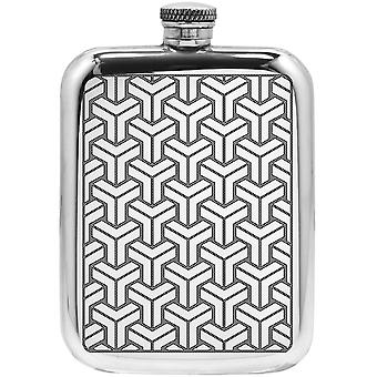 Symetrix Pewter Hip Flask - 6oz