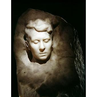 Rose Bennet (marble) by Auguste Rodin - Art Canvas