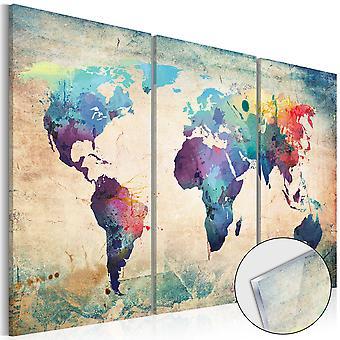 Acrílico grabado - mapa de arco iris [vidrio]