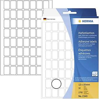 Herma 2340 Labels 12 x 18 mm Paper White