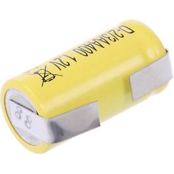 Mexcel D-2/3AA400 Non-standard battery (rechargeable) 2/3 AA U solder tab, Flat top NiCd 1.2 V 400 mAh
