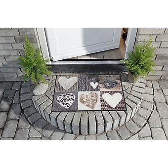 Salon lion Alps happiness heart washable floor mat country house style