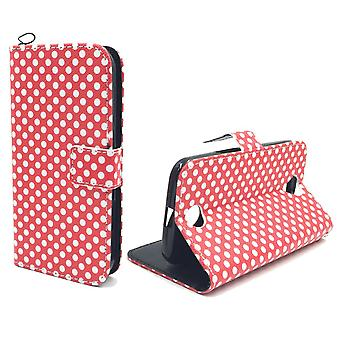 Mobile phone case pouch for mobile Samsung Galaxy S6 edge polka dot Red