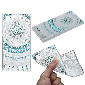 Couverture de henné pour silicone de Housse Etui de protection Sony Xperia L1 bleu soleil