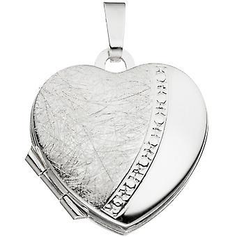 Medallón corazón parte hielo mate plata BERLIN