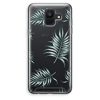 Samsung Galaxy A6 (2018) Transparent Case (Soft) - Simple leaves