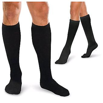 Therafirm Core Spun Short Length Support Socks [Style AC11S] Black  S