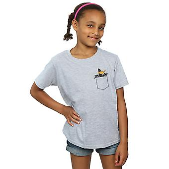 Looney Tunes Girls Daffy Duck Faux Pocket T-Shirt