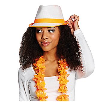 Paille Fedora néon-orange