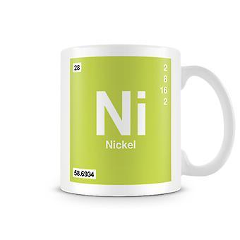 Wetenschappelijke bedrukte Mok met Element symbool 028 Ni - nikkel