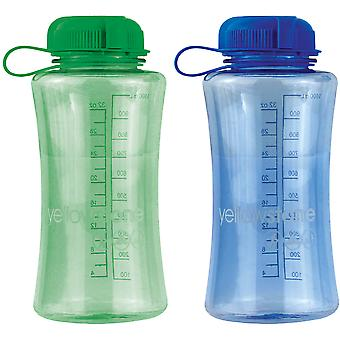 Yellowstone 1L Drinks Bottle Green & Blue 2 Pack