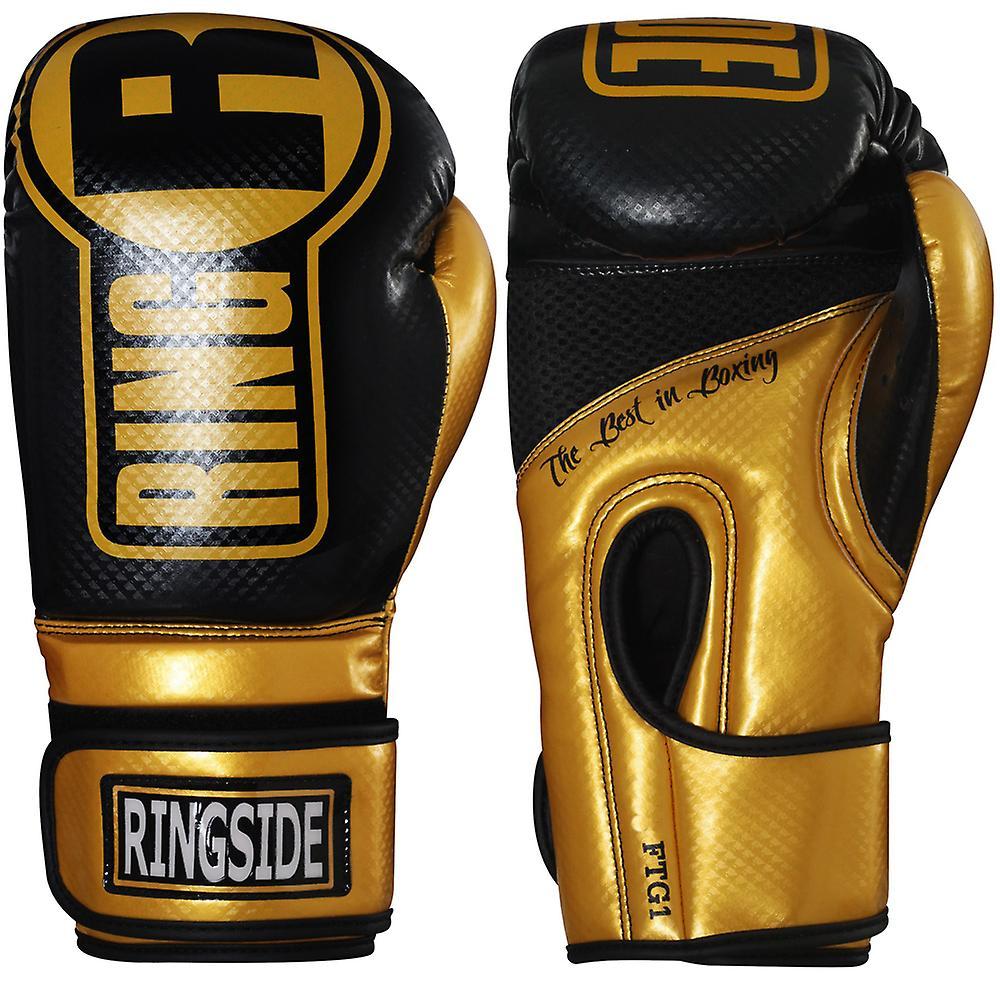 Gants de sac boxe Ringside Apex Fitness - or noir
