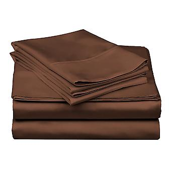 1200tc-100% Egyptian Cotton Bed Sheet Set- Chocolate