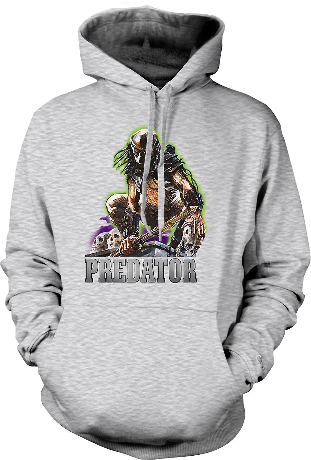 Mens hettegenser - Predator Hunter - klassisk film