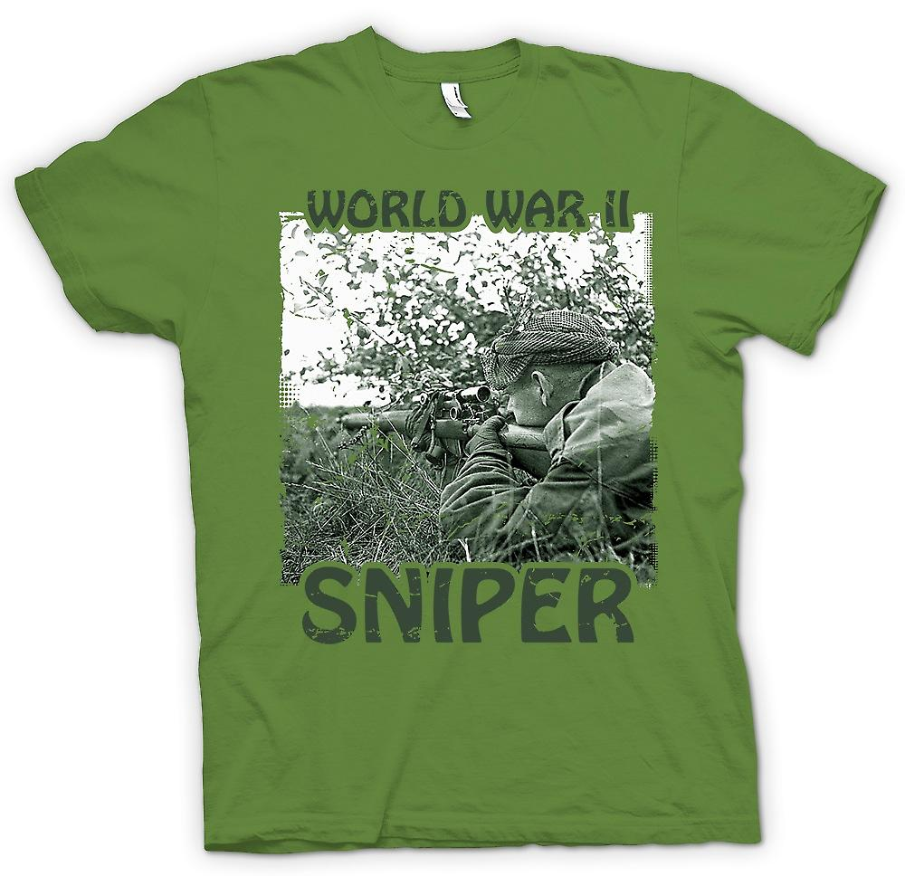 Mens T-shirt - World War 2 Sniper - Infantry
