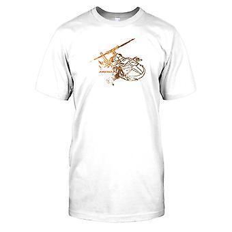 Airwolf Bell 222 Diagram - Cool 80s TV Mens T Shirt