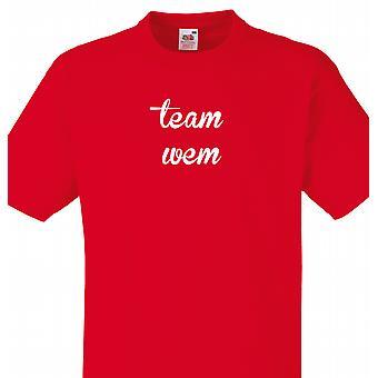 Team Wem Red T shirt