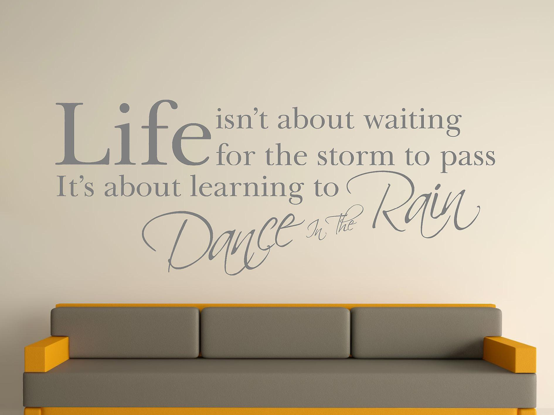Dance In The Rain Wall Art Sticker -  Grey