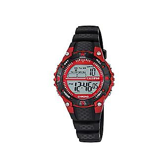 Calypso-Unisex digital watch with LCD Digital Display and plastic strapping, color: black, 6 K5684