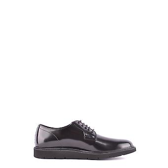 Hogan Black Leather Lace-up Shoes
