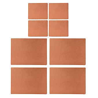 English Tableware Co. Bonded Leather Placemats and Coasters, Copper