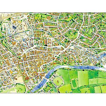 Mapa de rua Cityscapes de Worcester 400 Piece Jigsaw Puzzle 470 x 320 mm (feliz)