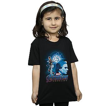 Marvel Girls Avengers Endgame Black Widow Team Suit T-Shirt