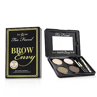 Too Faced Brow Envy Shaping & Defining Kit : (1x Setting Wax 1x Highlighter 2x Brow Powders 1x Tweezer 1x Angled Brush 1x Spooley) - 3.6g/0.12oz